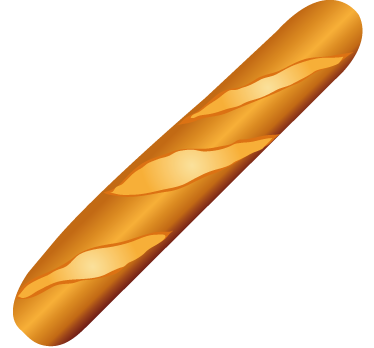 TenStickers. Baguette Wall Sticker. Food wall sticker of a golden crispy baguette, ideal for decorating your kitchen, dining room or place of work. Create the perfect environment for preparing and eating fresh food with this vibrant high quality bread vinyl.