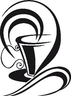 TenStickers. 커피 벽 스티커의 세련된 컵. 부엌 주위에 향기가 퍼져 나가는 김이 나는 커피 한잔의 부엌 벽 스티커. 당신의 커피 숍이나 카페도 장식 할 멋진 커피 벽 아트 데칼!
