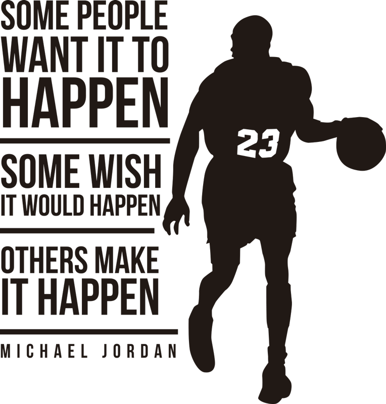 TenStickers. Others make it happen basketball wall sticker. Get inspired by the greatest NBA player of all time with this motivational quote wall sticker. Choose from over 50 colours!