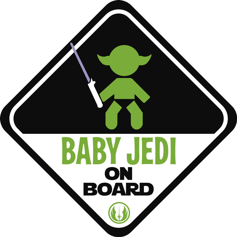 TenStickers. Jedi Car Sticker. Keep your little Jedi safe as he learns the ways of the force with this Star Wars-themed car sticker. Choose from a range of sizes!