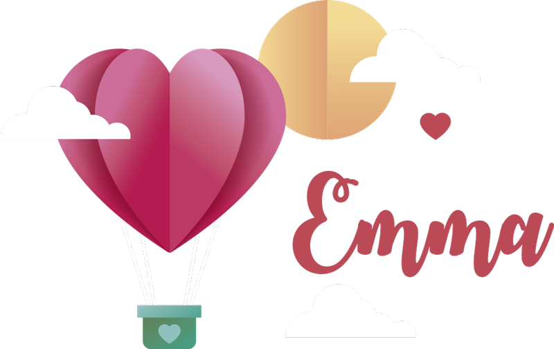 TenStickers. Paper hot air balloon Personalised Sticker. Make your daughter's bedroom that little bit more personal with this girls hot air balloon wall sticker. Choose from a wide array of sizes!