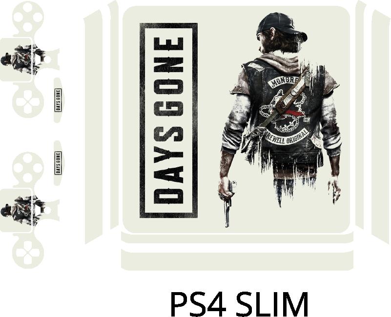 TenStickers. Skin Ps4 Days Gone. Rendi la tua playstation 4 davvero unica ed originale con questaskin ps4, con l'immagine di un personaggio di Days Gone!