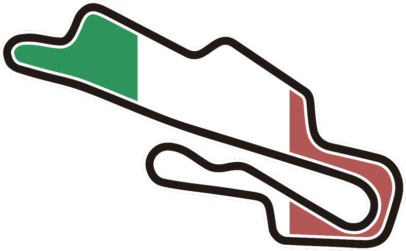 TenStickers. Mugello circuit Car Decal. Decorative car decal design of the Mugello circuit  in the country flag colour and it is available in different size dimensions .