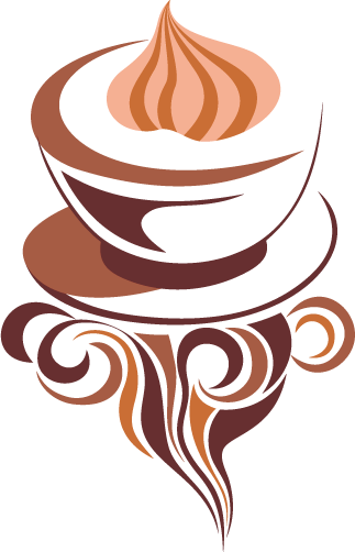 TenStickers. Cappuccino Coffee Illustration Wall Sticker. A delicious cappuccino decal to give your home a splendid atmosphere that you and your family will love. Brilliant coffee wall art sticker!