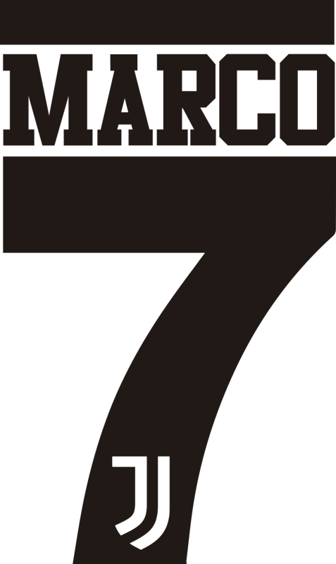 TenStickers. Adesivo personalizzato Juventus con nome. Applica questo adesivo juventus sul muro della tua camera da letto, che rappresenta il logo della squadra e puo' essere personalizzato con un nome!