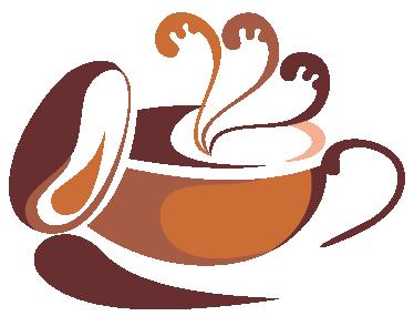 TENSTICKERS. スタイリッシュなコーヒーカップイラストデカール. キッチンやコーヒーショップなどのスペースを飾るためのコーヒーウォールアートステッカーコレクションのコーヒーカップのイラスト。