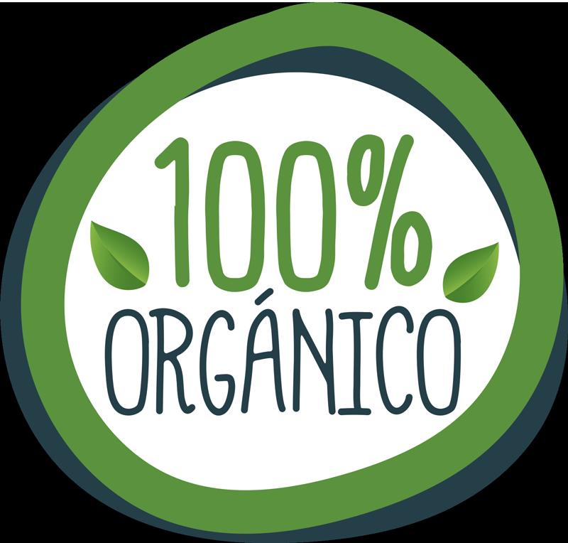 TenVinilo. Vinilo gastronomía 100% orgánico. Original pegatina adhesiva ideal para informar a tus clientes que tus productos son 100% orgánicos y de calidad. Compra Online Segura y Garantizada.
