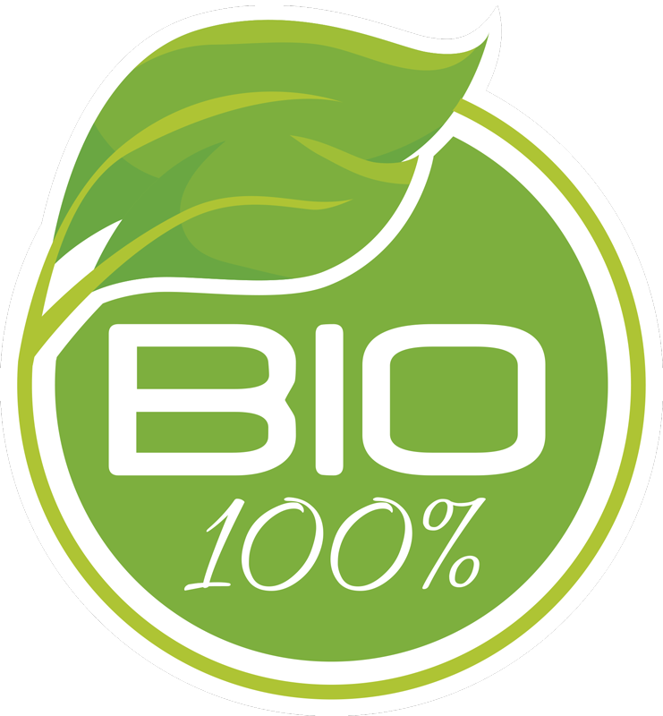 TenStickers. 100% bio wall decor. Food science sticker for gastronomy business to apply on surface as certification for natural food products. Easy to apply.
