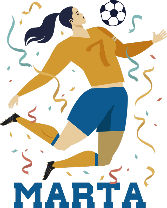 TenStickers. 여자 축구 월드컵 이름 축구 벽 스티커. 화려한 스타일과 배경에서 여자 월드컵 우승자의 장식 축구 스포츠 데칼. 개인화 된 이름을 가진 십대에게 이상적입니다.