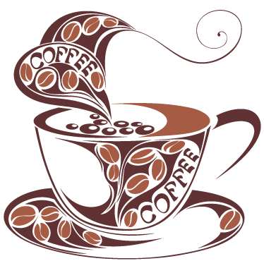 TenStickers. Sticker mooi design tas koffie. Wandsticker van een prachtige voorstelling van heerlijke warme tas koffie! Een leuk idee voor het decoreren van uw keuken, eetkamer, café, restaurant.