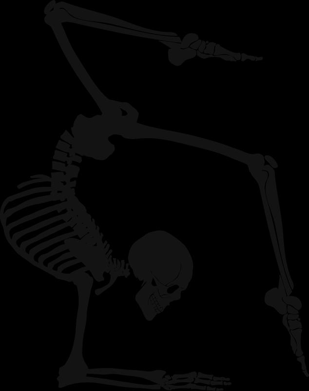 TENSTICKERS. ヨガスケルトン壁の装飾. ヨガの骨格運動の科学の壁アートデカール.. さまざまな色とサイズで利用可能。ホームセンターとヨガセンターの両方に最適