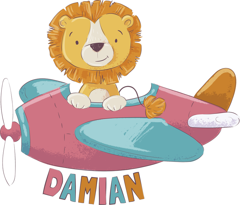 TenStickers. Personalised Lion Wall Sticker. Bring your child's bedroom, playroom or classroom to life with this amazing cartoon lion wall sticker. Choose from a wide range of sizes!
