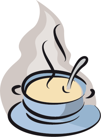 TenStickers. Hot Soup Pot Decal. Wall Stickers - Decals - Vector illustration of hot soup in a blue serving pot. Ideal for homes or businesses.