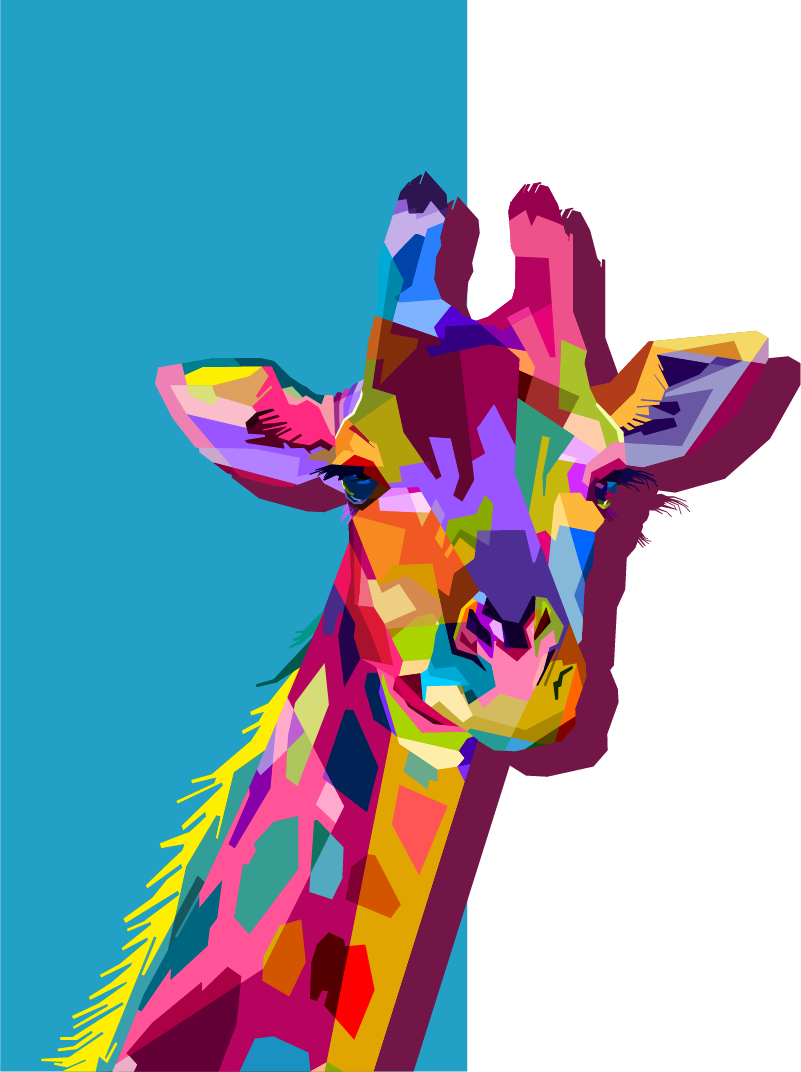 TenStickers. Giraffe 3D laptop skin. Add a special touch on a laptop with this 3D giraffe decal design to beautiful it. Easy to apply and available in different size dimensions.