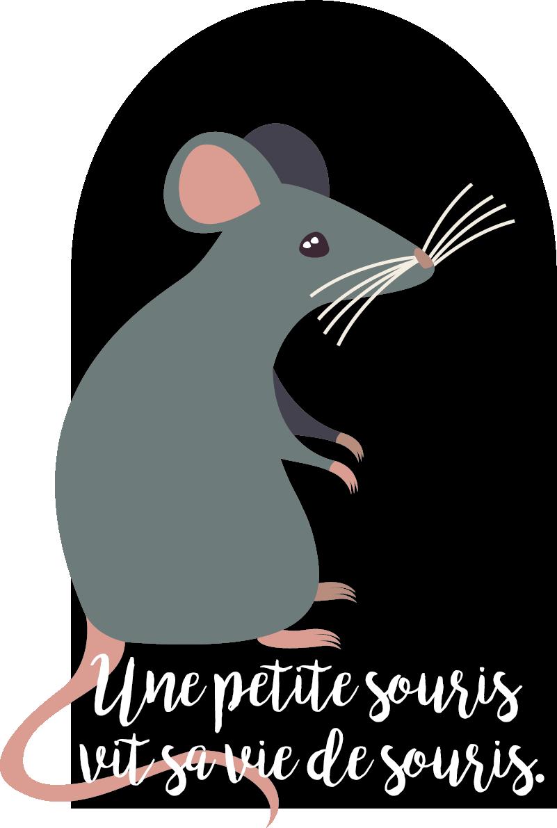 TenStickers. Sticker Mural petite souris. Cet adhésif mural souris est la décoration parfaite pour une chambre d'enfant ou une salle de jeux. Très résistant et facile d'application.