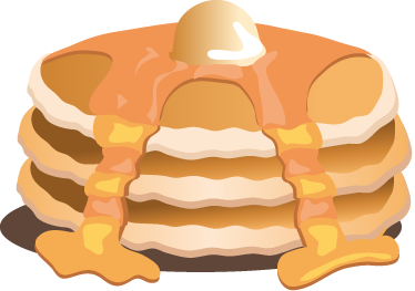 TenStickers. Golden Syrup Pancakes Decal. Wall Stickers - Decals - illustration of a pile of mouth-watering golden pancakes topped with maple syrup and butter.
