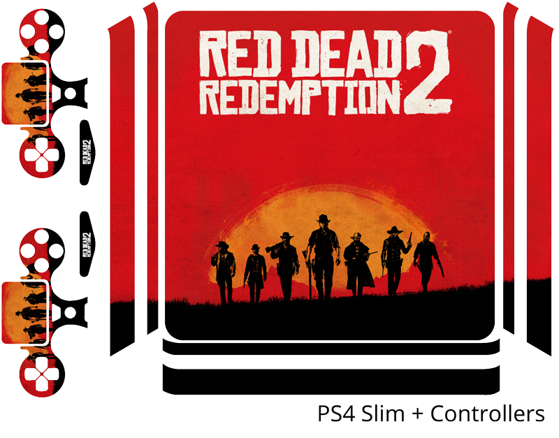 TenStickers. Red Dead Redemption ps4 sticker. Strawberry ain't big enough for two cowboys, but you'll win the stand off with red dead redepmtion ps4 skins. Easy to apply, bubble proof