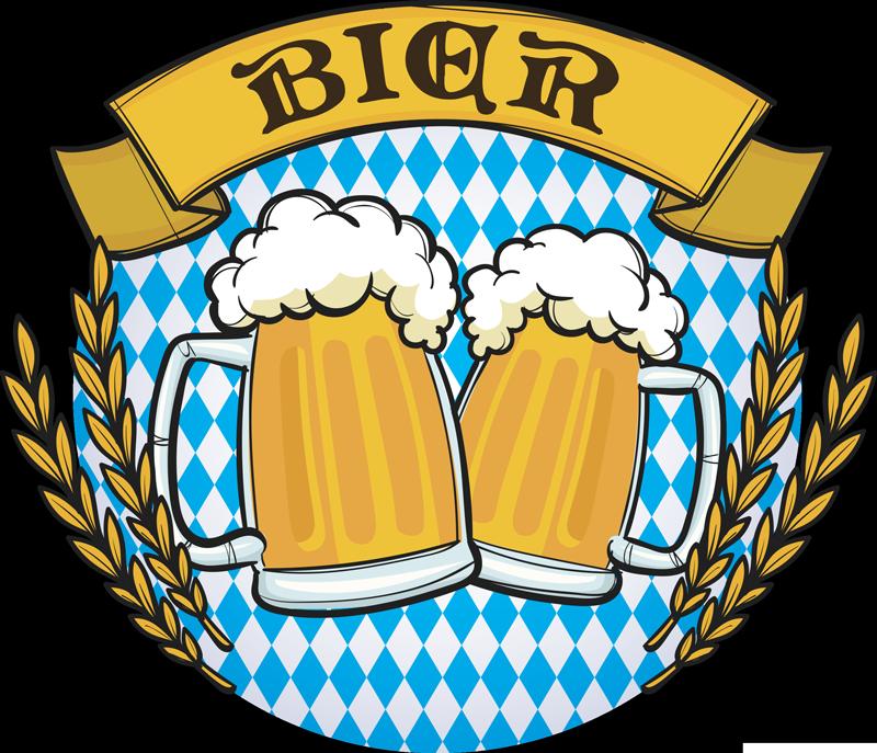 TenStickers. Sticker Getränke Bier. Bunter Wandsticker für Zuhause, nicht nur fürs Oktoberfest sondern für jede Party der Hingucker und jeden Bierliebhaber das neue Lieblingsstück.