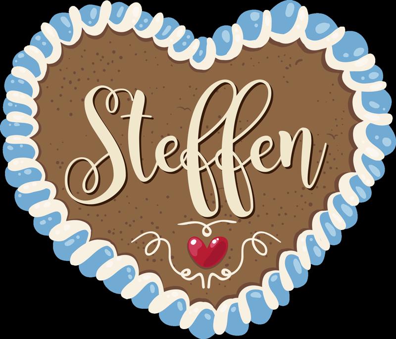 TenStickers. Wandtattoo Oktoberfest personalisierter Sticker. Ein Lebkuchenherz personalisiert mit Ihrem Namen! Egal in welcher Größe, schöne, persönliche Deko die wie frisch vom Volksfest aussieht!