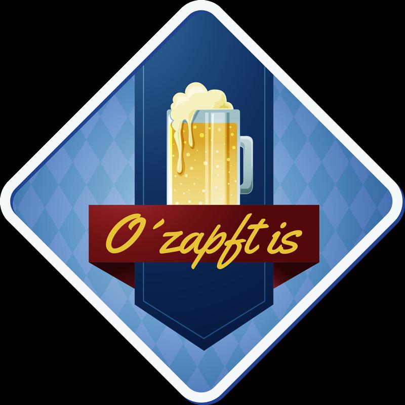 """TenStickers. Sticker Getränke Oktoberfest Bier Aufkleber. """"O´zapft is"""" - Sticker perfekt als Deko für alle Bierliebhaber. Besonders passend zum Oktoberfest oder neben Ihrem Zapfhahn!"""