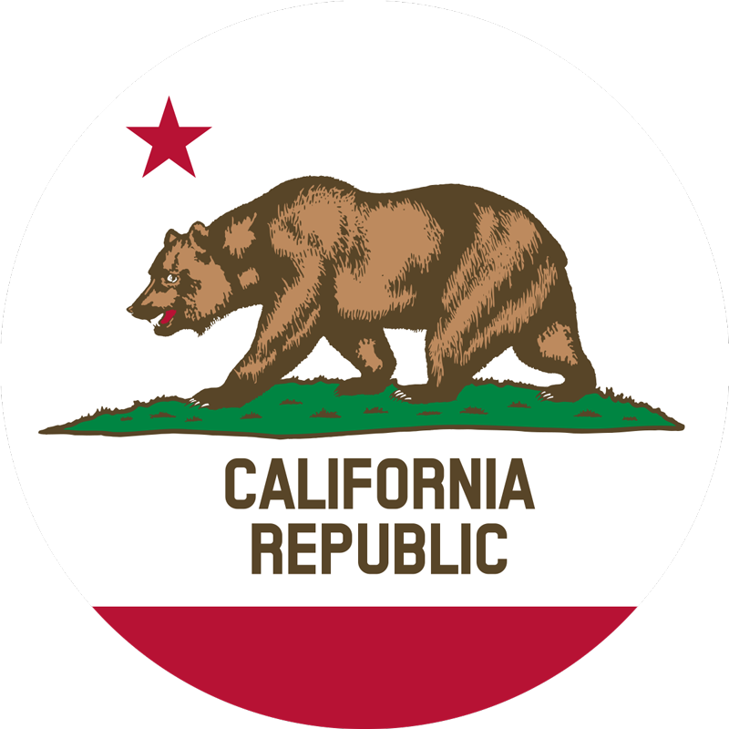 TenStickers. California Flag Car Decal. Show off to the world how proud you want to be from the greatest states in the world with this amazing California flag car decal. Worldwide delivery!