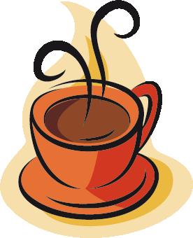 TenVinilo. Vinilo ilustración taza de café caliente. Adhesivo para decorar los electrodomésticos de tu cocina de una manera muy original. Taza de café caliente y deliciosa.