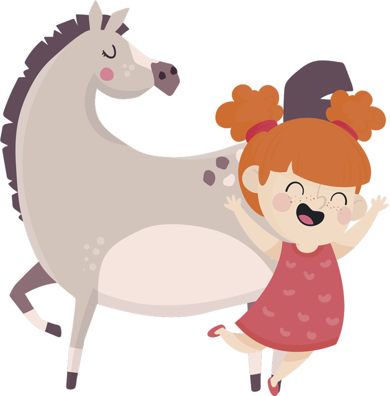 TenStickers. 삐삐 긴 스타킹 시네마 데칼. 놀라운 색상의 pippi longstocking 아이들을 위해 시네마 캐릭터로 디자인 된 어린이를위한 장식용 벽 스티커.