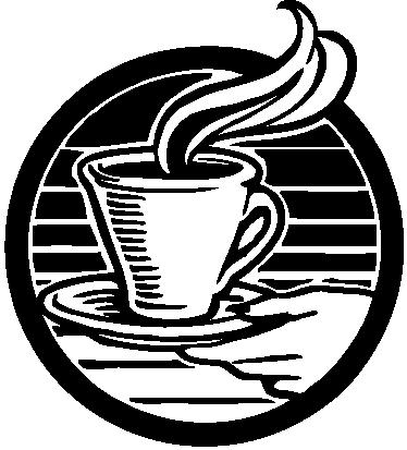 TENSTICKERS. ロゴコーヒーカップイラストウォールステッカー. 熱い一杯のコーヒーを持っている手のロゴイラスト。あなたの家やコーヒーショップを飾る華麗なコーヒーウォールアートデカール。