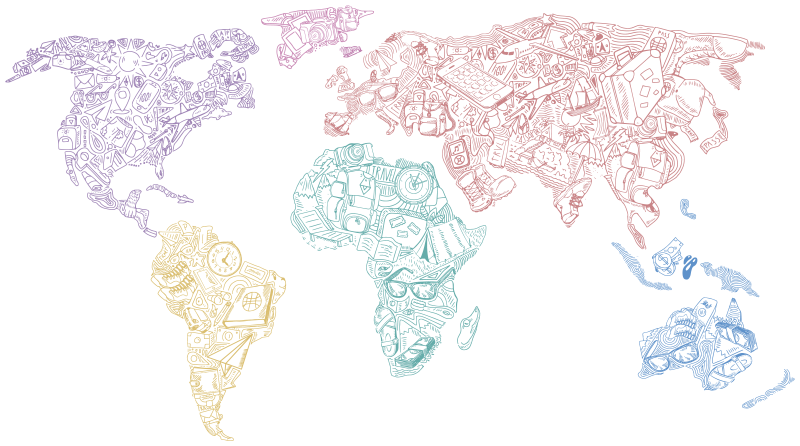 TenStickers. Travel World Map Sticker. Show off to the world just how much you love to travel with this incredible travel world map wall sticker. Choose from a range of sizes!