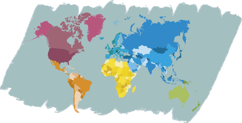 TenStickers. Colourful World Map Sticker. Shadow off both how artistic you are and your love for cartography with this colourful world map sticker. Choose from a range of sizes!