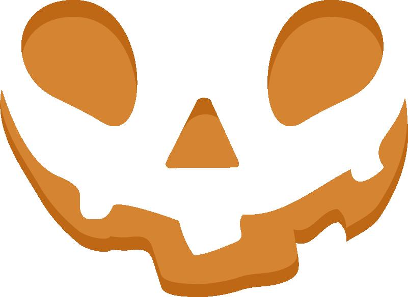 TenStickers. Autoaufkleber Halloween Kürbisgesicht. Wandtattoo für Hallooween, welches das Gesicht einen Kürbis zeigt. Die Augen, Nase und der Mund erinnert an einen ausgehölten Kürbis.