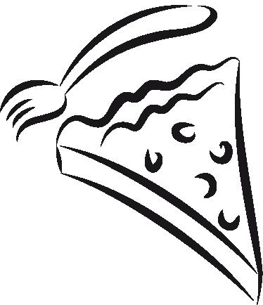 Sticker keuke taart en vork