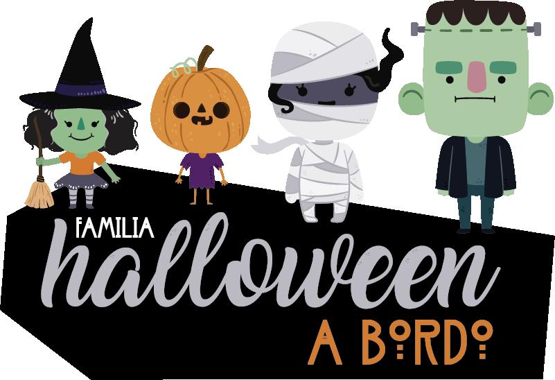 """TenVinilo. Pegatina familia a bordo halloween. Pegatina para coche de """"familia a bordo"""" formada por cuatro personajes típicos de Halloween. Atención al Cliente Personalizada."""
