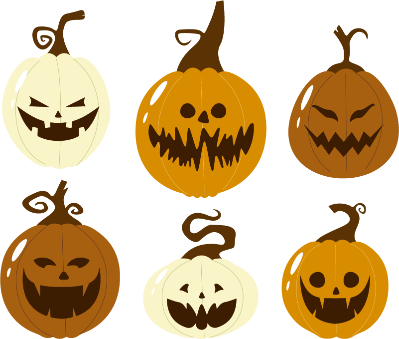 TenStickers. Set of pumpkins Wall Stickers. Could it even be Halloween without a pumpkin? These six pumpkins are available in a variety of sizes, and are easy to apply.