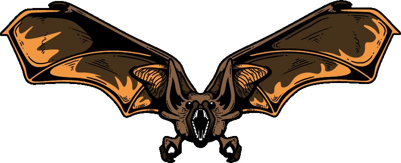 TenStickers. Autoaufkleber fliegende Fledermaus. Tier Aufkleber Fledermaus perfekt für Halloween - die Fledermaus sieht so aus als wäre sie gerade im Anflug mit den Flügeln weit ausgebreitet