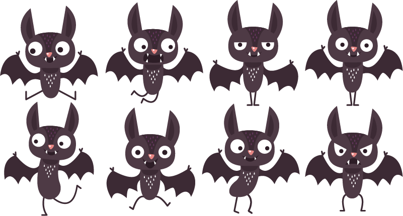 TenStickers. Halloween bats halloween wall sticker. Get spooky with this set of bat Halloween stickers. Our Halloween wall stickers are super easy to apply and won't leave any residue upon removal.
