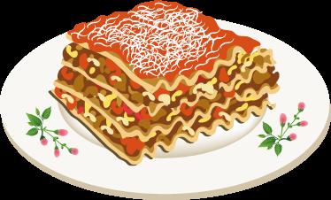TenStickers. Lasagne Sticker. Op deze muursticker zie je een lekker en typisch Italiaans gerecht; namelijk het gerecht Lasagne! Iedereen kent hem wel.