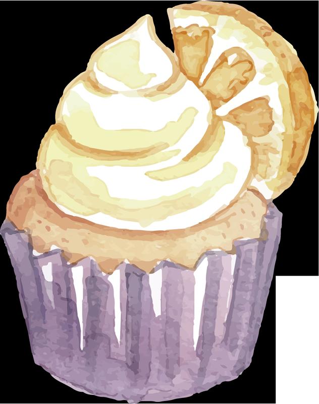TENSTICKERS. デザートとオレンジのフードウォールデカール. ペストリーとスライスオレンジのフードウォールアートステッカーデザイン。キッチンスペースを魅力的で食欲をそそるようにします。必要なサイズで利用できます。