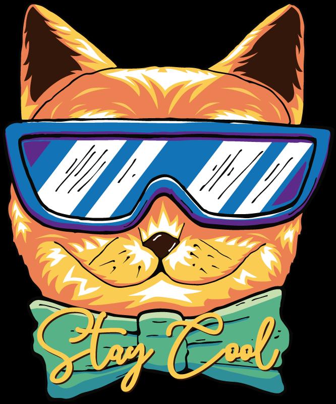TENSTICKERS. クールな猫のラップトップの皮膚デカール. 美しいグラフィックの外観でデザインされたクールな猫のラップトップステッカーでラップトップを飾りましょう。適用が簡単で、高品質のビニール製です。