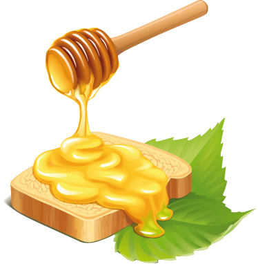 TenStickers. Bread & Honey Decal. Wall Stickers - Decals - Illustration of a slice of bread being covered in sweet honey. Ideal for homes or businesses such as cafes and restaurants.