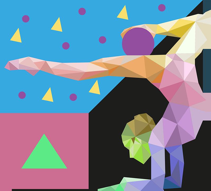 TENSTICKERS. スポーツ折り紙体操選手オリンピック壁デカール. あなたは体操選手かそれの恋人ですか?次に、体操選手が折り紙のスタイルで配置されたオリンピックスポーツウォールステッカーが最適です。