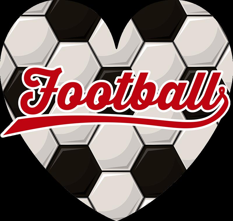 TENSTICKERS. 私はサッカーサッカーデカールが大好き. オリジナルの最高品質のビニール、スリル満点のデザイン、サッカー愛好家や10代の寝室向けの装飾から作成されたサッカーウォールステッカー。