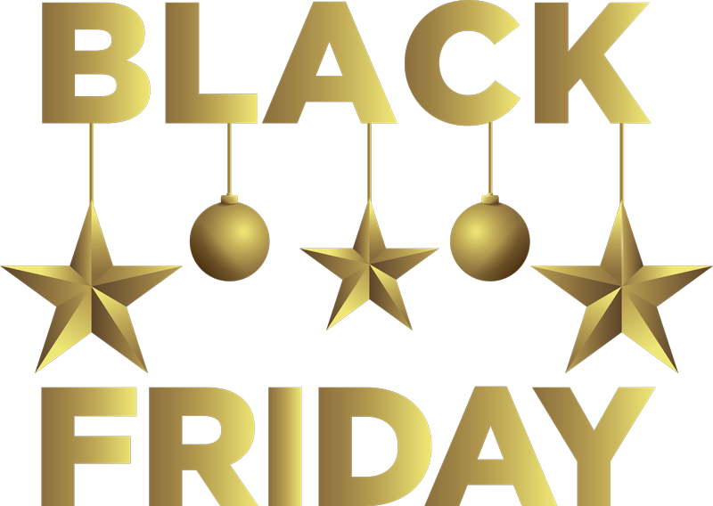 TenStickers. Black Friday window sticker. Let your customers know that you have some amazing offers this Black Friday. Easy to apply and available in a variety of different sizes.