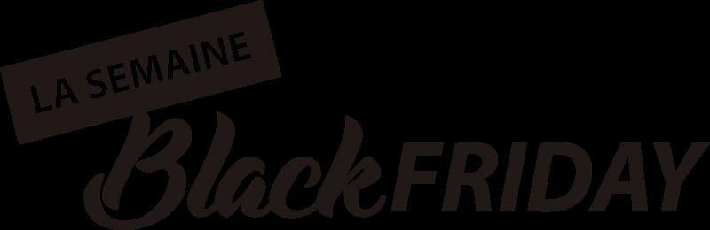 TenStickers. Vitrophanie semaine black friday. Stickers pour fenetre Black Friday avec écriture blanche. Parfait pour ce Novembre avec l'évènement de réduction le plus grand de l'année.