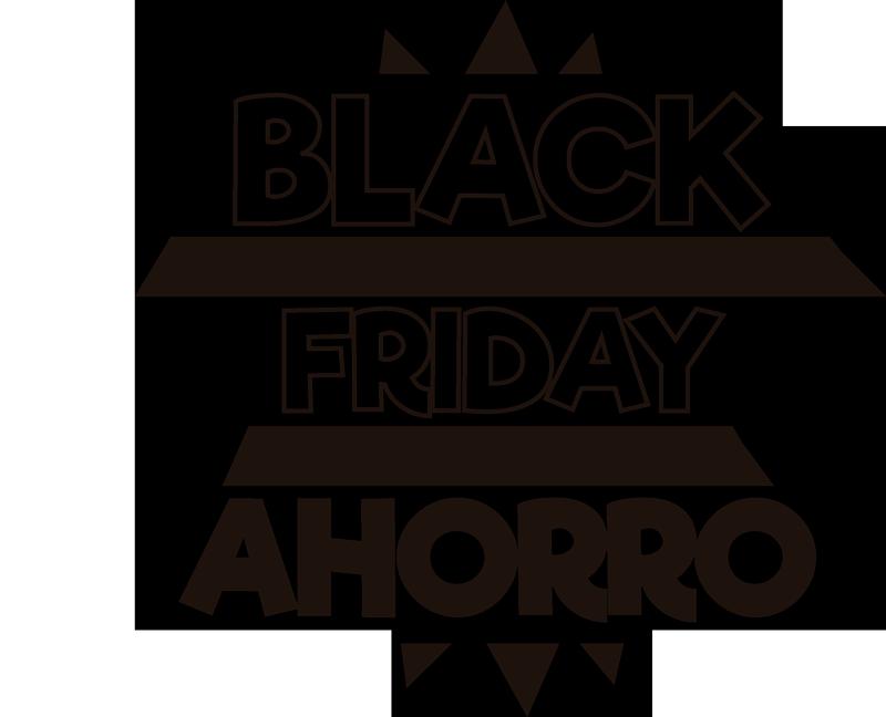 """TenVinilo. Pegatina rebajas Black Friday Ahorro. Vinilo monocolor formado por el texto """"Black Friday - Ahorro"""" ideal para llamar la atención de una forma directa. Atención al Cliente Personalizada."""