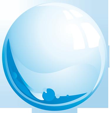 TenStickers. Muursticker bol met water. Deze muursticker omtrent een bol waar circulerend water in zit. Een mooi en origineel ontwerp voor de badkamer.