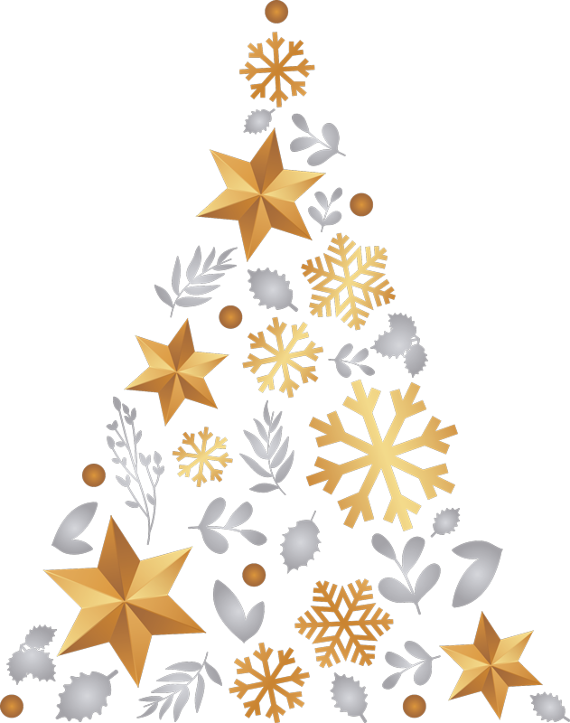 TenStickers. Christmas tree christmas wall sticker. Feeling too lazy to put up your Christmas tree? Fancy something a little bit different? Our Christmas tree sticker is just as authentic as a real tree