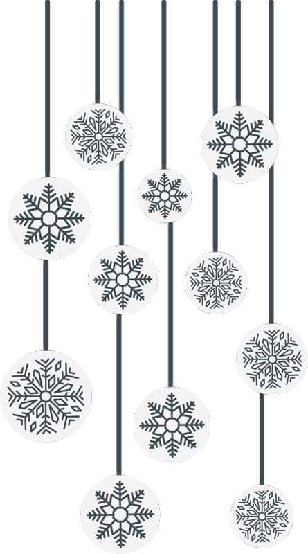 TenStickers. Snowflake window christmas wall sticker. Add a festive touch to your home or buisiness windows with this christmas window sticker. Everyone walking past your home or buisiness will feel merry