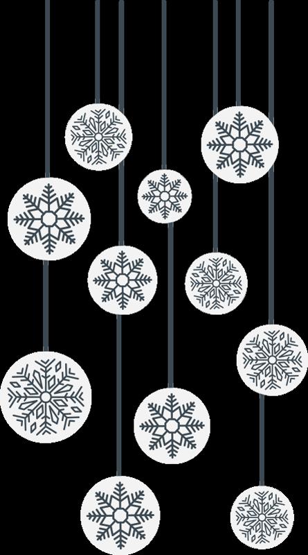 TenVinilo. Pegatinas de navidad copos para escaparates. Pegatina para escaparate formada por 11 copos de nieve que simulan estar colgandos a diferentes alturas. +10.000 Opiniones satisfactorias.