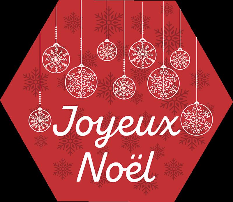 TenStickers. Sticker Vitre Noel hexagon avec flocons. Sticker noelen forme de hexagon avec petites flocons,option de couleur personnalisable. Une addition magnifique! Achat Sécurisé et Garantit.